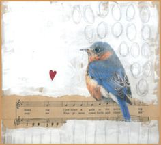 Blue Bird <3 - ADORABLE, just love the simplicity in this message!