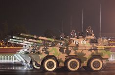 Chinese PTL02 100 mm Assault Gun on Parade