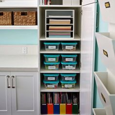 Organized all of our craft/school supplies! Quite a project but I'm so happy now it's done. Definitely went to my happy place with this one. Details on the blog! www.thesunnysideupblog.com #atleasttherightsideofmyofficeisclean #schoolsuppliesmakemehappy #sunnysideuporganization