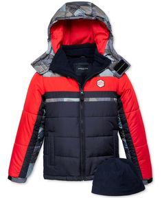 London Fog Hat & Hooded Colorblocked Puffer Jacket Set, Little Boys Cool Jackets, Warm Jackets, Jackets For Women, Winter Jackets, Women's Jackets, New Man Clothing, Baby Girl Fashion, Fashion Branding, Puffer Jackets