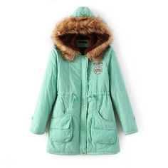 Wool Hood Long Slim Big Pocket Mid-length Coat