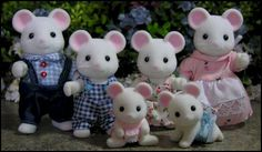 Beverly's Sylvanian Village - Families - Mice - Hawthorn White Mice