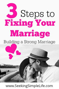3 Simple Steps that help troubled marriages, improving communication and start rebuilding strong relationships of love and friendship. Healthy Marriage, Strong Marriage, Marriage Relationship, Relationships Love, Marriage Advice, Healthy Relationships, Improve Communication, How To Improve Relationship, Passionate Love