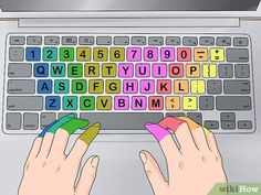 How to Type Extremely Fast on a Keyboard (with Pictures) - wikiHow Keyboard Lessons, Computer Lessons, Computer Basics, Keyboard Shortcuts, Typing Hacks, Typing Skills, Keyboard Symbols, Learn To Type, Computer Teacher