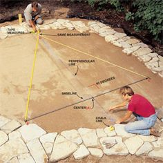 build a patio step-by-step instructions.                  http://www.familyhandyman.com/patio/build-a-stone-patio-or-brick-patio/step-by-step