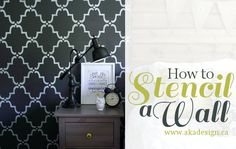 For the small bathroom wall- how to stencil a wall
