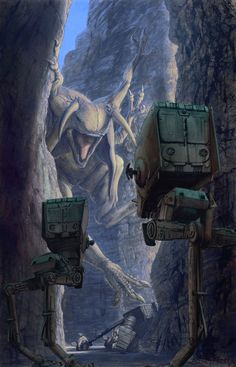 Star Wars - Walker Encounter by Robert Balderson