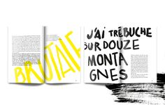 Projet d'édition. Mise en page et création de typographies pour un recueil de textes de la Beat Génération.