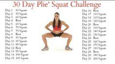 30 Day Plie' Squat Challenge