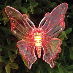 Solar Butterflies-10 Translucent Butterflies Light Up from Solar Powered LEDs - Automatically Turns On at Night Melville Direct http://www.amazon.com/dp/B00VRW58IY/ref=cm_sw_r_pi_dp_tt7wvb0TDK3N7