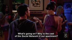 new girl> Jess about Nick's party
