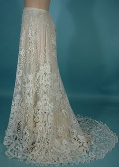 Antique Lace Overskirt (shown with liner here).