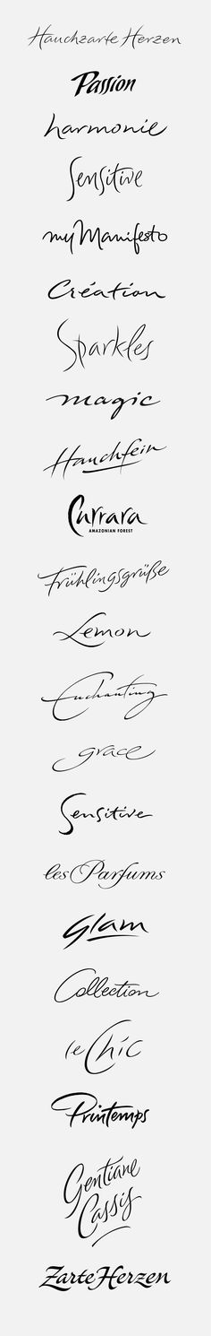 logotypes: emotional, sensual by Peter Becker, via Behance
