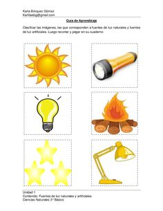 fuentes de luz natural y artificial - Buscar con Google