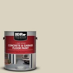 Behr Premium 1 Gal Pfc 31 Traditional Tan 1 Part Epoxy Satin Interior Exterior Concrete And Garage Floor Paint 90001 The Home Depot Garage Floor Paint Exterior Paint Painted Floors