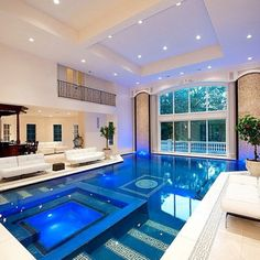Indoor pool inside a mansion located near New York City, New York. Luxury safes, luxury brands, exclusive design, luxury goods, luxury life, maison et objet. For more luxury news check out: http://luxurysafes.me/blog/