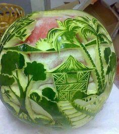 É feito da fruta melancia