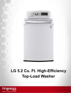 Wash mega loads of laundry using the LG High-Efficiency Top-Load Washer