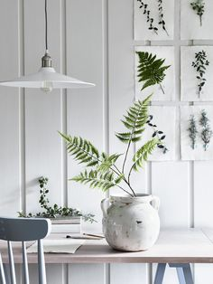 For a simple arrangement, display this delicate but architectural life-like Lady Fern stem in a bottle. Or, mix it with spring & summer blooms. Study Furniture Design, Modern Home Office Furniture, Neptune Home, Lady Fern, Round Vase, Faux Flowers, Fern Flower, Slow Living, Our Lady