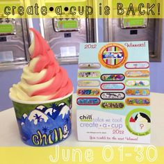 """@chillyogurtcafe's photo: """"Create•A•Cup is BACK! Visit your local Chill to pick up a color sheet or get one on our website www.chillyogurt.com! #chillyogurt #chill #froyo #chillyogurtcafe #froyolove #createacup #createacupcontest"""""""
