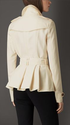 Parchment Silk Trench Jacket - Image 2