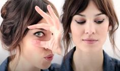Alexa Chung's perfectly inky cat eye + video tutorial.