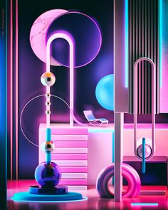 Illustration from the Space Escape Series Delivering the world's best CGI. Discover our exclusive, curated collection of images and animations from leading digital artists. New Retro Wave, Retro Waves, 3d Street Art, 3d Cinema, Space Illustration, Space Projects, Neon Aesthetic, Design Poster, 3d Artwork