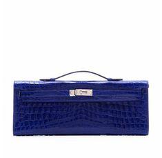 Hermes Electric Blue Crocodile Kelly Cut Clutch Luxury Handbags, Fashion  Handbags, Fashion Bags, dd33d1b42e