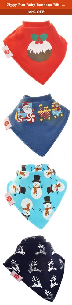 Zippy Fun Baby Bandana Bib - Drool Bibs with Adjustable Snaps - Boys Christmas. Parents, has your baby turned into a drool monster meaning constant clothes changes and double the laundry? Are you tired of bibs... • With Useless Velcro snaps that damage baby skin, other clothing and are easily pulled off by your playful tot? • That are unfashionable and spoil cute outfits? • That are uncomfortable for baby's daily adventures? • That just aren't absorbent enough to keep up with your baby…