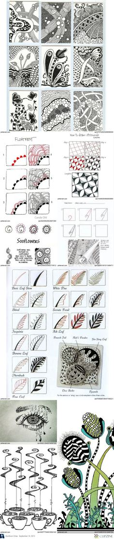 Zentangle patterns and ideas