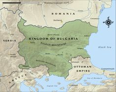 Map of the Kingdom of Bulgaria in 1915