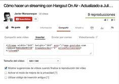 Parametros de personalización del player YouTube