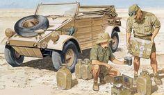 "Afrika Korps, another kind if ""fuel"",water. So desperately needing in desert warfare.."