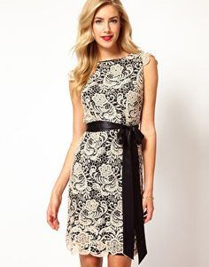 Enlarge Coast Alice Lace Dress with Contrast Lining