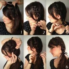 Trenzas sencillas. Encuentra más ideas de peinados sencillos en...http://www.1001consejos.com/peinados-en-5-minutos/