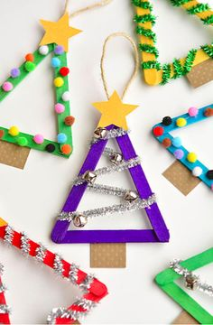 Christmas craft ideas for kids stick christmas tree christmas tree crafts christian christmas crafts christmas activities Christmas Crafts For Kids To Make, Christmas Activities For Kids, Preschool Christmas, Christmas Ornaments To Make, Xmas Crafts, Craft Stick Crafts, Christmas Projects, Christmas Fun, Celebrating Christmas