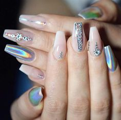 Nail Art Ideas For Coffin Nails - Lavish Crome - Easy, Step-By-Step Design For Coffin Nails, Including Grey, Matte Black, And Great Bling For Instagram Ideas. Includes Everything From Kylie Jenner Ideas To Nailart For Short Nails, Long Nails, And Beautiful Shape And Colour Like Pink. Polish For Jade, Glitter, And Even Negative Space - https://thegoddess.com/nail-ideas-coffin-nails