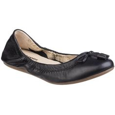 de8c867e77c Hush Puppies Lexa Heather Bow Ladies Flat Shoe Black Sweet and simple doesn  t come any more practical than the Hush Puppies Lexa Heather Bow This