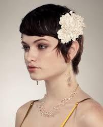Image result for flowers hair short
