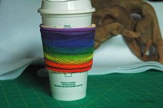 Ripples In A  Rainbow - Coffee Sleeve #12 by CafeProjections on Etsy