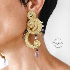 Soutache Necklace, Tassel Earrings, Ring Earrings, Shibori, Boho Jewelry, Jewellery, Oriental Fashion, Beaded Embroidery, Boho Fashion