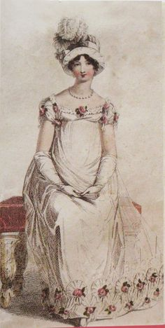 Regency full dress and feathered hat