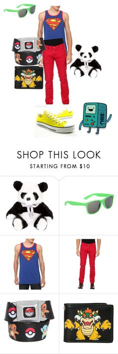 """""""Beemo!!!!"""" by immajuststayme ❤ liked on Polyvore featuring LISKA, Retrò, Dsquared2, Nintendo and Converse"""