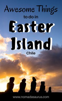 Heading to South America? Don't miss Easter Island off your list of places to visit in Chile. It is so stunning and there is so much to see and do. Check out our list of the best things to do in Easter Island. Three days, is not enough! Let our guide to Easter Island help you plan.
