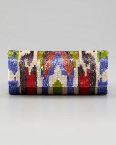 Ikat Beaded Clutch by Moyna at Neiman Marcus.