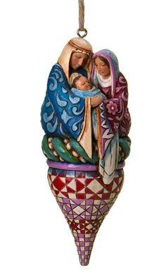 Jim Shore Holy Family Finial Christimas Ornament