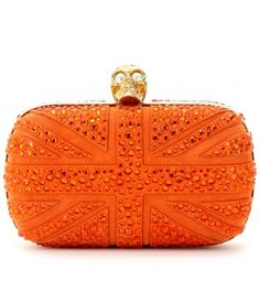 [Alexander McQueen]-- Skull, orange, and the Union Jack--it was made for me lol