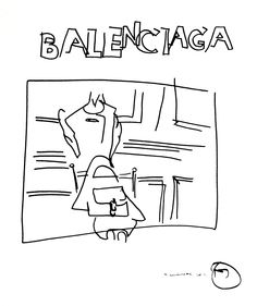 belle BRUT sketchbook: #Balenciaga #fashion #style #illustration #blindcontour  © belle BRUT 2014   http://bellebrut.tumblr.com/post/93750131270/belle-brut-sketchbook-balenciaga-fashion-style