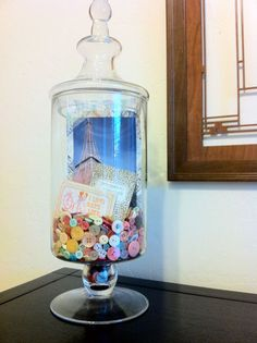 how to scrapbook in apothecary jars