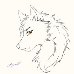 wolf anime drawings drawing easy wolves face fox google step draw sketch sad line